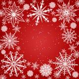 De achtergrond van sneeuwvlokken Royalty-vrije Stock Foto's