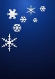 De achtergrond van sneeuwvlokken Stock Fotografie