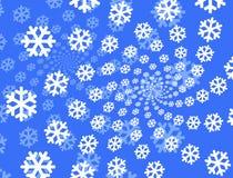 De achtergrond van sneeuwvlokken. Royalty-vrije Stock Foto's