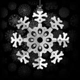 De achtergrond van sneeuwvlokken met ruimte voor tekst. + EPS8 Royalty-vrije Stock Foto's