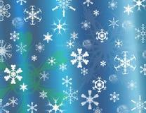 De achtergrond van sneeuwvlokken voor Kerstmis Royalty-vrije Stock Fotografie