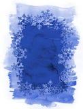 De Achtergrond van de sneeuwvlokkenwaterverf Royalty-vrije Stock Fotografie