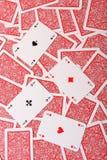 De achtergrond van speelkaarten Stock Fotografie