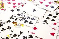 Speelkaartenachtergrond stock fotografie