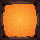 De achtergrond van spinnewebhalloween, spinnewebachtergrond Royalty-vrije Stock Fotografie
