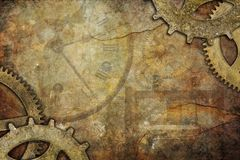 De Achtergrond van Steampunk Stock Foto