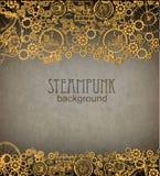 De Achtergrond van Steampunk Victoriaanse era, steampunk stijl vector illustratie