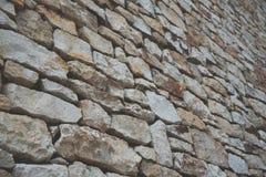 De achtergrond van de steenmuur met mat filmeffect Stock Afbeeldingen