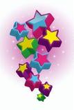 De achtergrond van sterren Stock Afbeelding