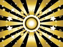 De achtergrond van sterren en van cirkels Royalty-vrije Stock Foto's
