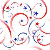 De achtergrond van sterren en van strepen Royalty-vrije Stock Afbeelding