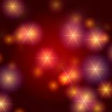 De achtergrond van sterren in rood Stock Foto's