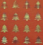 De achtergrond van stoffenkerstbomen Stock Afbeeldingen