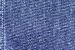 De achtergrond van de de stoffentextuur van denimjeans met naad voor ontwerp Royalty-vrije Stock Foto's