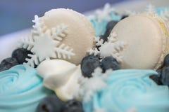De achtergrond van de Stollencake Exclusieve cakedecoratie Gezonde banketbakkerijachtergrond Gezonde en smakelijke snoepjes royalty-vrije stock foto