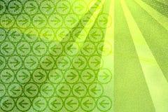 De achtergrond van stralen en van pijlen Vector Illustratie