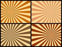 De Achtergrond van stralen [Warme Kleuren] Stock Foto
