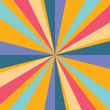 De achtergrond van strepen Achtergrond vectoreps10 van oranje, blauwe, rode kleuren de abstracte strepen royalty-vrije illustratie