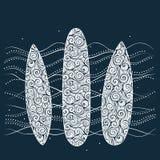 De achtergrond van surfplanken Royalty-vrije Stock Fotografie