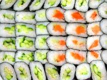 De achtergrond van sushi Royalty-vrije Stock Afbeelding