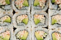 De Achtergrond van sushi Royalty-vrije Stock Afbeeldingen