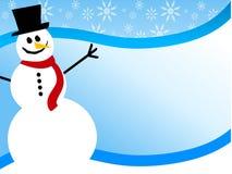 De Achtergrond van Swoosh van de sneeuwman vector illustratie