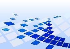 De achtergrond van Techno met vierkanten Stock Afbeelding