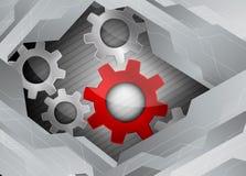 De achtergrond van technologie Stock Afbeelding