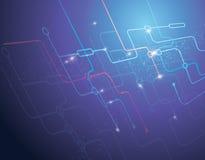 De achtergrond van technologie Stock Foto's