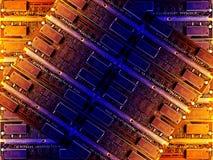 De achtergrond van technologie Stock Afbeeldingen