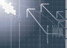 De achtergrond van technologie Royalty-vrije Stock Afbeelding
