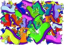 De achtergrond van de textuur Het schilderen van de kleine zilveren piramides royalty-vrije illustratie
