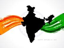 De achtergrond van Tricolor voor Indische republiekdag. vector illustratie
