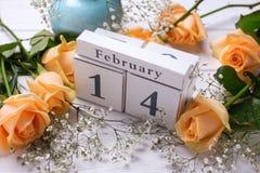 De achtergrond van vakantie 14 Februari Stock Foto
