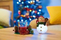 De Achtergrond van de Vakantie van Kerstmis Lijst met decoratie Royalty-vrije Stock Foto's