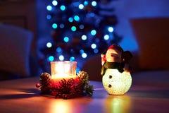 De Achtergrond van de Vakantie van Kerstmis Lijst met decoratie Royalty-vrije Stock Afbeeldingen
