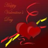 De achtergrond van valentijnskaarten Stock Foto's