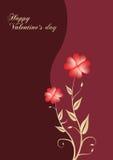 De achtergrond van valentijnskaarten stock illustratie