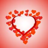De achtergrond van valentijnskaarten Royalty-vrije Stock Afbeeldingen