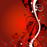 De achtergrond van valentijnskaarten Royalty-vrije Stock Afbeelding