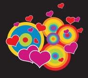 De achtergrond van valentijnskaarten abstrat vector illustratie