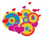 De achtergrond van valentijnskaarten abstrat stock illustratie