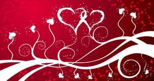 De achtergrond van valentijnskaarten met harten, vector Stock Foto's