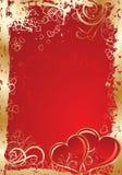 De achtergrond van valentijnskaarten, vector Stock Afbeeldingen