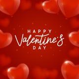 De achtergrond van de valentijnskaartendag met hartenballons royalty-vrije stock foto