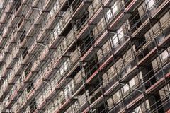 De achtergrond van venstersminimalism Stock Foto's