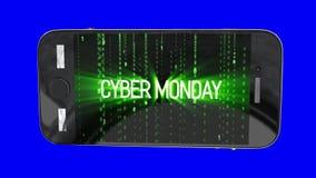 De achtergrond van de de verkoopmotie van de Cybermaandag stock footage