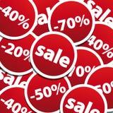de achtergrond van verkoopstickers Stock Afbeelding