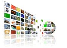 De achtergrond van verschillende media Stock Foto's