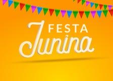 De achtergrond van de de vieringspartij van Festajunina Van de het festivalvakantie van Brazilië juni het ontwerp van Carnaval royalty-vrije illustratie
